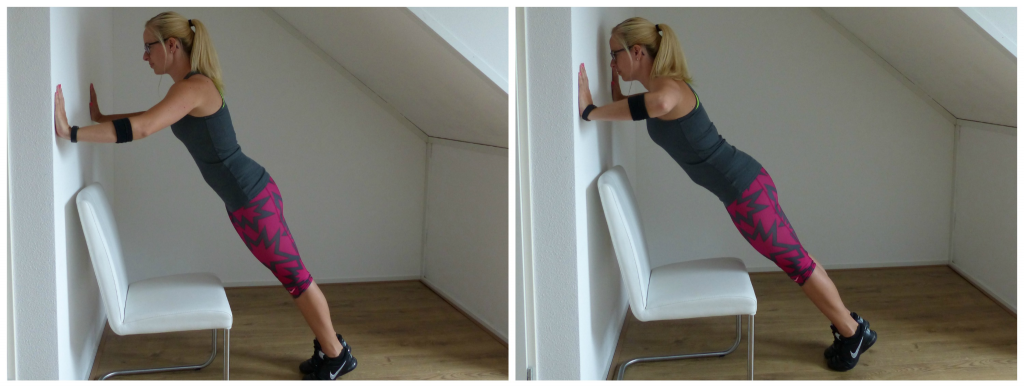 push up tegen muur